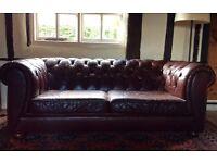 John Lewis Burgundy Leather Sofas