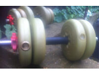 Set of 2 York dumbbells 20Kg (2 x 10Kg)