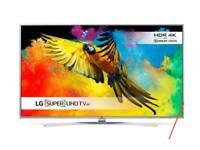 LG 55 inch. 4k smart tv and LG sound bar