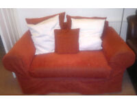 Cousion Backed Sofa and Armchair - Free to Good Home