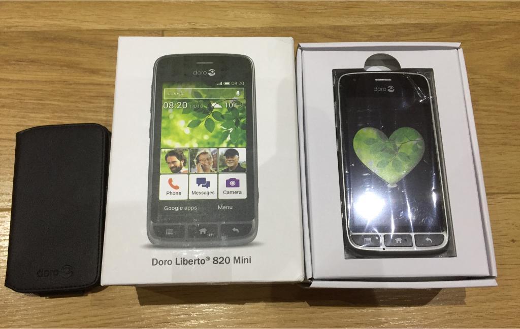 Brand new boxed Doro Liberto 820 mini smartphone EE with black case