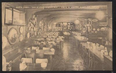 Postcard PORTLAND Oregon/OR  Ship's Cabin Oyster Bar Restaurant Interior 1920's