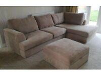 Next Corner Sofa with Storage Ottoman
