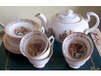 Teaset with matching teapot beautiful but two plates missing hence the price