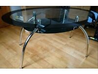 Oval Glass Dining Table FREE DELIVERY (03532)