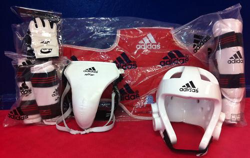 Taekwondo Protective Gear Set, Adidas & WTF Hand Protec