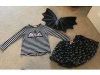 Bat girl outfit from H&M age 3-4 but would fit 4-5 as well generous size.