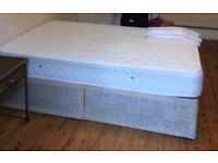 Double bed - spring mattress and divan bed base for sale!