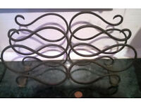 vintage cast iron wine rack