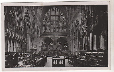 Exeter Cathedral - Real Photo Postcard 1942