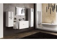Bathroom furniture FRESH with mirror vanity unit cabinets 3 colour variants
