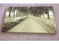 Woodland canvas painting- home decoration