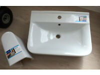 60cm / 600mm Deco Basin & Semi Pedestal NEW - Large basin