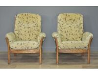 Pair Of Vintage Ercol Saville Fireside Armchairs Arm Chairs