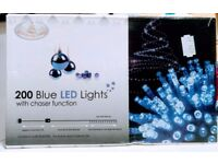200 Blue LED lights with chaser function