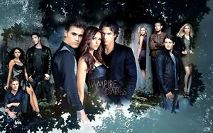The Vampire Diaries TV Show Silk Cloth Poster 21 x13