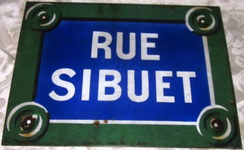 French vintage rue sign paris France deco chic plaque