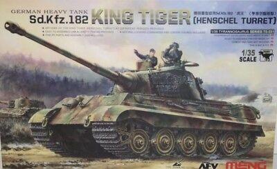 Meng Models 1/35 Scale Kit - King Tiger Sd.Kfz.182 (Henschel Turret) German Tank