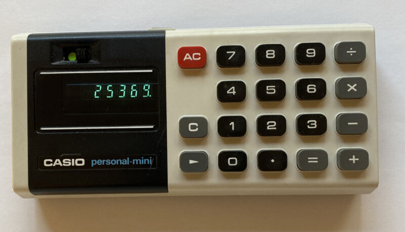 Vintage Casio Personal Mini Electronic Calculator Great Condition Tested Works