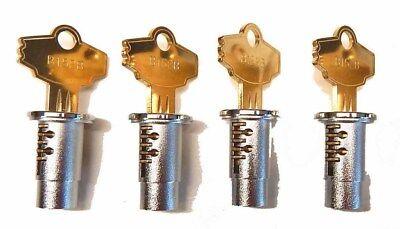 Set Of 4 Locks Keys Oak Northwestern Aa Komet Eagle Vending Bulk Machine