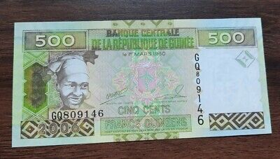 G10130 billet de banque du monde Guinée 500 francs 2006 neuf/unc