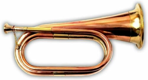 Antique Look Bugle Copper/Brass Made Classy Gift Items Old School Orchestra Band
