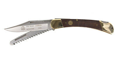 PUMA SGB WARDEN POCKET FOLDING KNIFE / w. SAW / JACARANDA / BACK LOCK / 6169623W