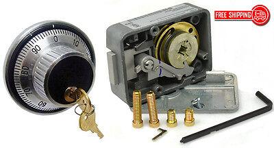 Lagard Combination Lock 3330 With 1779 Key Locking Dial Ring Set- Satin Chrome