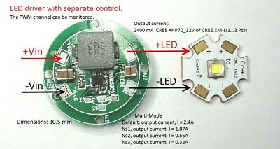 Led Driver Ldradj2-2.4a 2.4a Dc6.5v-28v Multi-mode Xhp70 Xm-l2 Xml