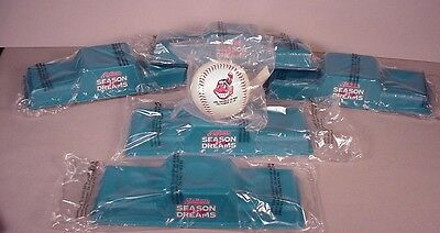 (1990's Cleveland Indians 5 Baseball display stands MIP MLB  Season of Dreams)