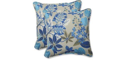 Pillow Perfect Indoor/Outdoor 18.5 Fancy A Floral Lagoon Thr