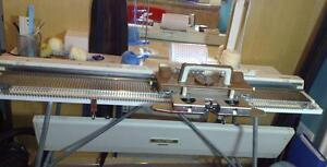 Studio Singer SK 155 punch card knitting machine works great