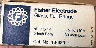 Fisher Electrode Glass Full-range 13-639-1 Chemistry Lab Glassware