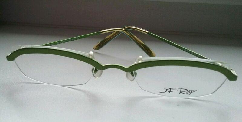 JF REY JF2082A 40 135 50[]20 Halbrand Metall Brille Brillengestell Neuwertig