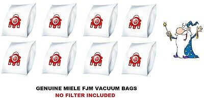 Genuine MIELE FJM 3D HyClean Vacuum Cleaner DUST BAG x 8Pk NO FILTER INCLUDED