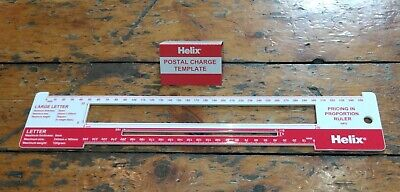 Postal Charge Template Post Office Letter Sizes Pricing Ruler Helix NEW