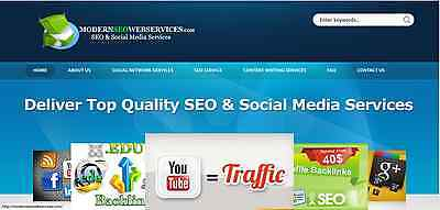 Profitable Established SEO Social Media Business Website for sale-AMAZING DESIGN