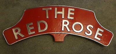 """The Red Rose"" headboard hardware railwayana"