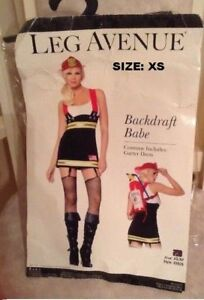 Costume woman  BACKDRAFT BABE Firefighter - Size XS (0-2)