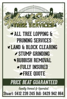 Sydney and Southern all Tree services. Illawong Sutherland Area Preview