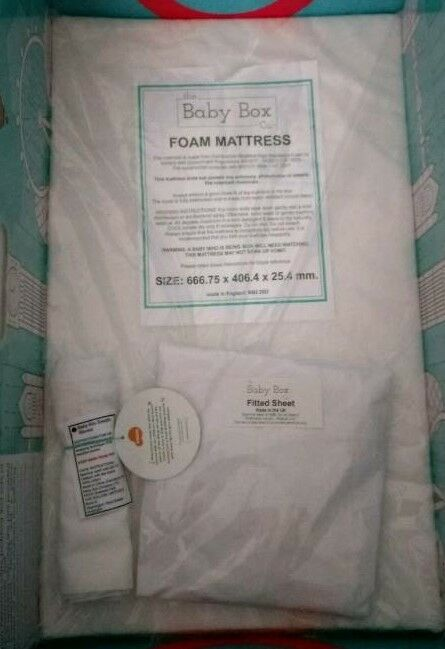 Crib mattress , bedsheet, swaddle blanket Brand new in packet