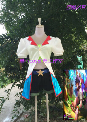 LOL Arcade Ahri Skin Uniform Outfit Halloween Cosplay Costume A018 - Lol Skins Halloween