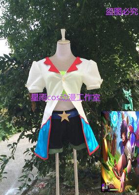 LOL Arcade Ahri Skin Uniform Outfit Halloween Cosplay Costume A018