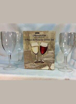 Sotter & Norse Classic Plastic Wine Glass Set w/ (4) 13 oz , Polycarbonate -
