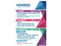 2x Saturday and Sunday Wireless Festival tickets