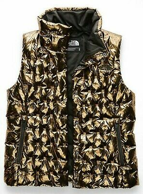 THE NORTH FACE HOLLADOWN CROP VEST COPPER METALLIC XS S L gold bronze 1996 coat