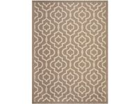Brand new Savafiah Courtyard Collection Indoor / Outdoor Rug Brown / Bone 160 X 231 cms RRP £110