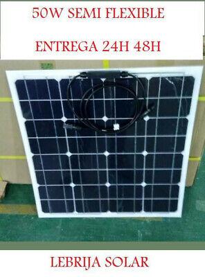 50W PANEL SOLAR SEMI FLEXIBLE PLACA 12V MONOCRISTALINO 48H 100W 120W 130W...
