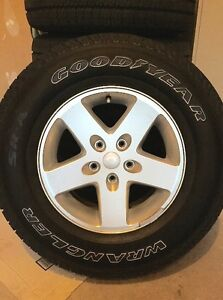 5 NEW 2016 GOODYEAR JEEP WRANGLER SR-A Tires & Rims (REDUCED $) Oakville / Halton Region Toronto (GTA) image 1