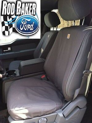 2017 Ford Super Duty Carhartt Seat Covers Gravel Captains Chair Front Set ()